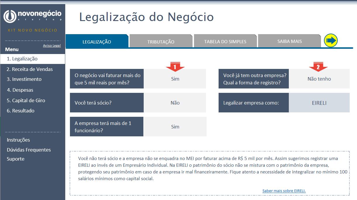 Legalização do Negócio