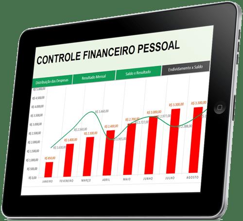 Controle financeiro pessoal tablet