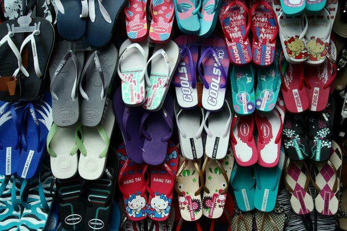 venda de chinelos