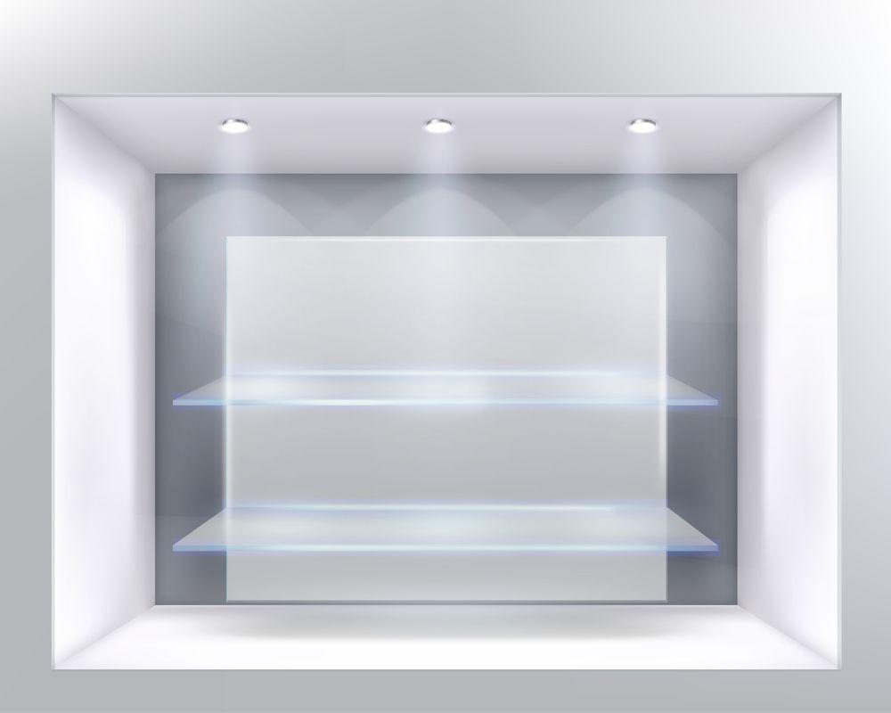 Iluminação da vitrine