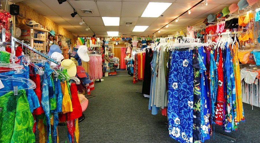 Mercado de uma loja de roupas de praia