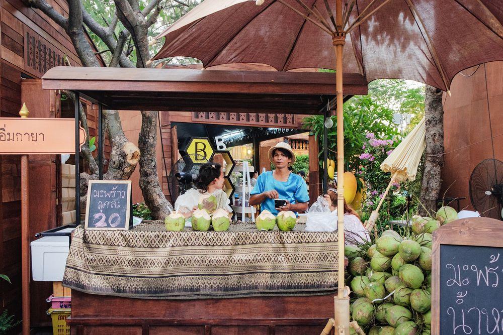 Venda de água de coco