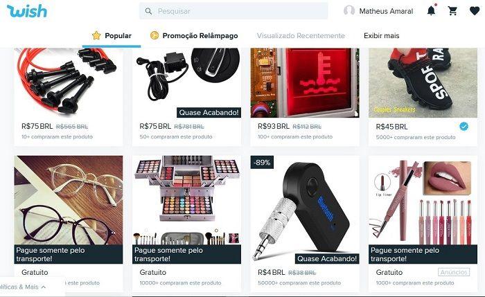 Site de Compras Wish