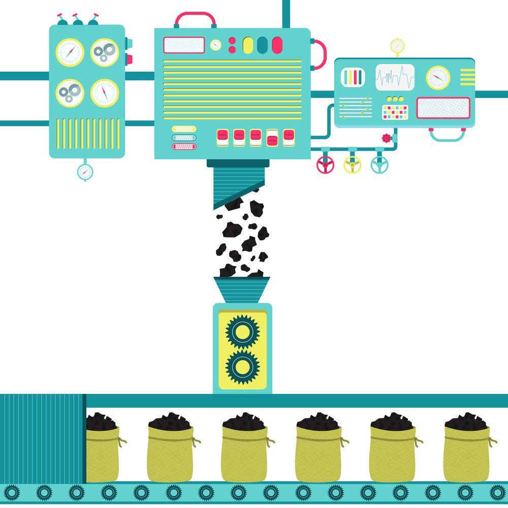 Máquina Empacotadora de Carvão