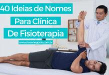 nomes para clínica de fisioterapia
