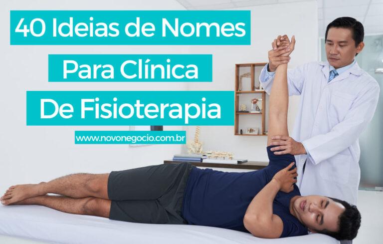 Nomes para Clínica de Fisioterapia: Lista com 40 ideias de Nomes