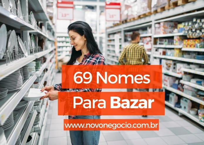 nomes para bazar